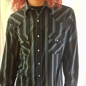 Vintage Ely Cattleman Pearl Snap Western Shirt